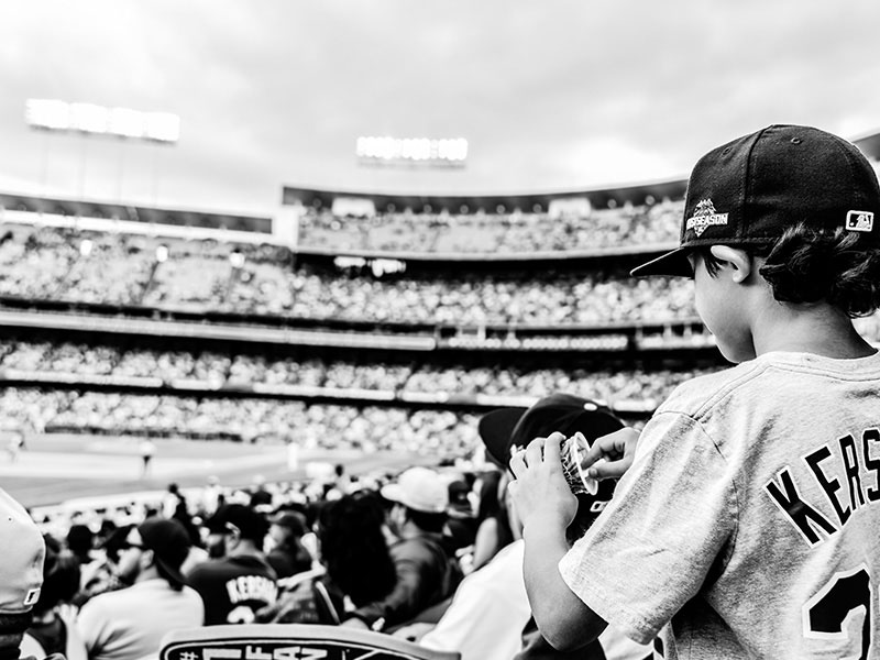 Jaedyn Rodezno at Dodger Stadium By Rodezno Studios