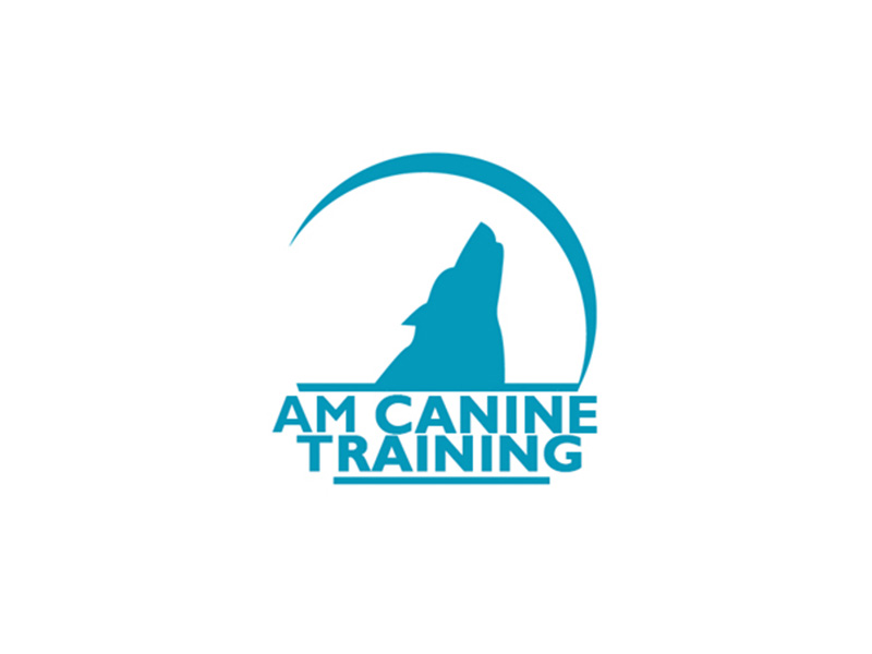 AM Canine Training brand identity logo design by Rodezno Studios.