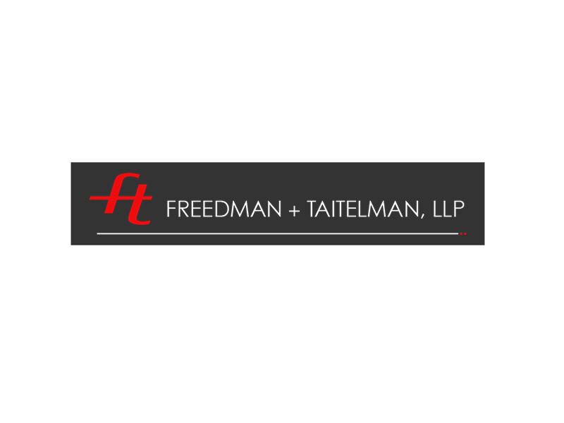 Freedman + Taitelman LLP brand identity logo design by Rodezno Studios.