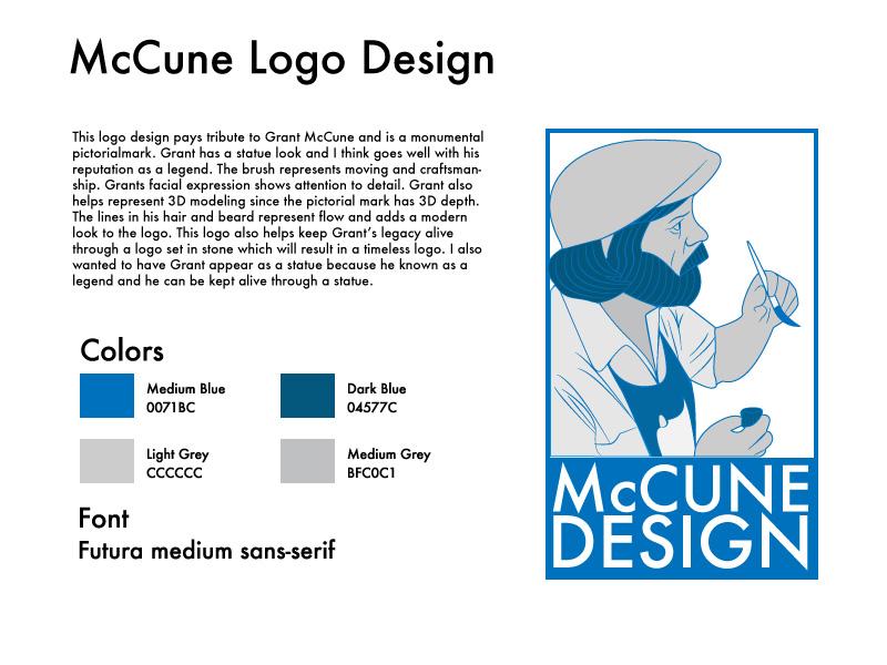 McCune Design initial concept brand identity logo design by Rodezno Studios.